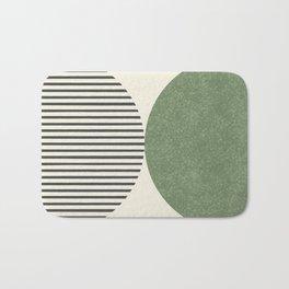 Semicircle Stripes - Green Bath Mat