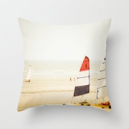 Sand yachting trio Throw Pillow