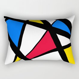 Red, Yellow, Blue Primary Abstract Rectangular Pillow