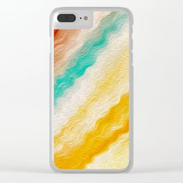 Southwest Windy Waves Stylized Clear iPhone Case