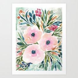 SOFT PINK BLOOMS Art Print