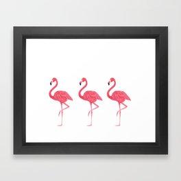 Flamingo tropical dance Framed Art Print