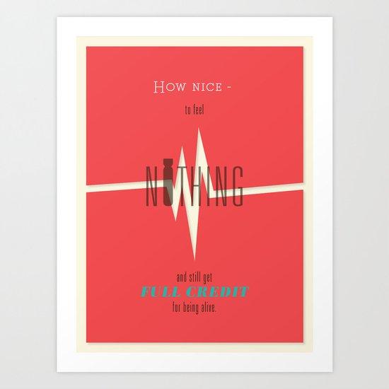 Literary Quote Poster — Slaughterhouse 5 by Kurt Vonnegut Art Print
