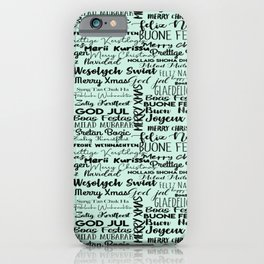 Holiday Greetings In Many Languages iPhone Case