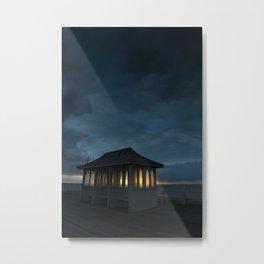Cromer Pier Shelter at Dawn Metal Print