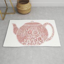 Rose Gold Tea Pot Head Rug