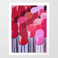lipstick Art Prints featuring Lipstick by Love2Snap