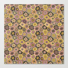 Millefiori-Earthy Colors Canvas Print