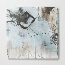 Static and Storm - Square Abstract Expressionism Metal Print