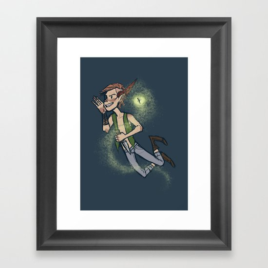 the second star to the right Framed Art Print