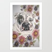 bulldog Lola Art Print