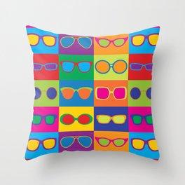 Pop Art Eyeglasses Throw Pillow