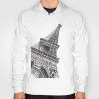 eiffel tower Hoodies featuring Eiffel Tower by Ugurcanozmen