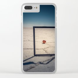 Frame, Apple & Salt Clear iPhone Case