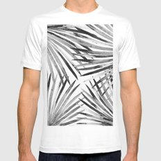 Tropical garden (black and white) MEDIUM Mens Fitted Tee White