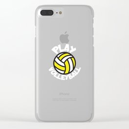 Play volleyball Clear iPhone Case