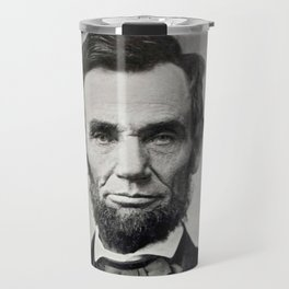 Portrait of Abraham Lincoln by Alexander Gardner Travel Mug