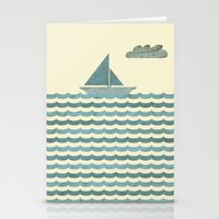 sailboat Stationery Cards featuring SailBoat by Jeremy Lobdell