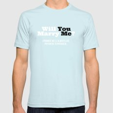 Marry Me SMALL Light Blue Mens Fitted Tee