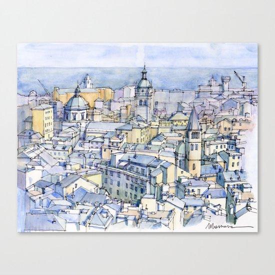 Il centro storico di Genova Canvas Print