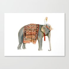 Elephant Ride Canvas Print