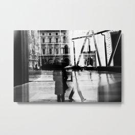 Reflection in Milan Metal Print