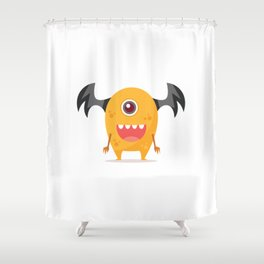 Happy Monster Shower Curtain