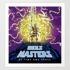 Bees Masters of Time and Space Art Print