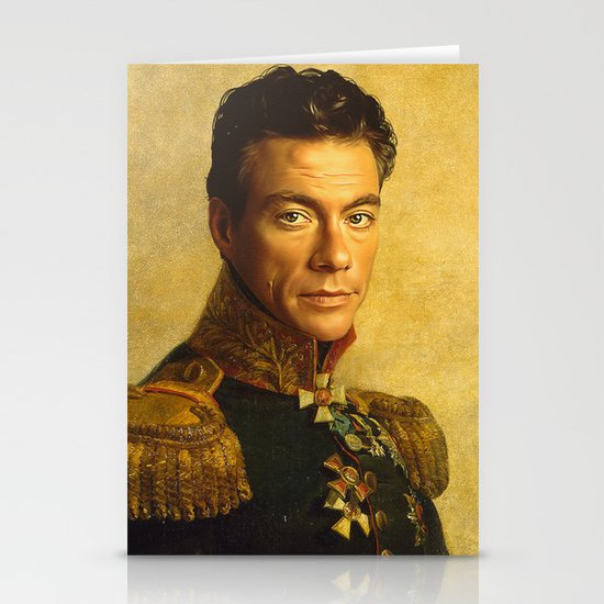 Jean Claude Van Damme - replaceface Stationery Cards
