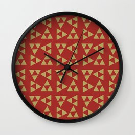 Print 131 - Legend Of Zelda - Red Wall Clock