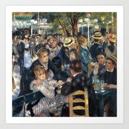 Auguste Renoir -Bal du moulin de la galette, Dance at Le moulin de la Galette Art Print
