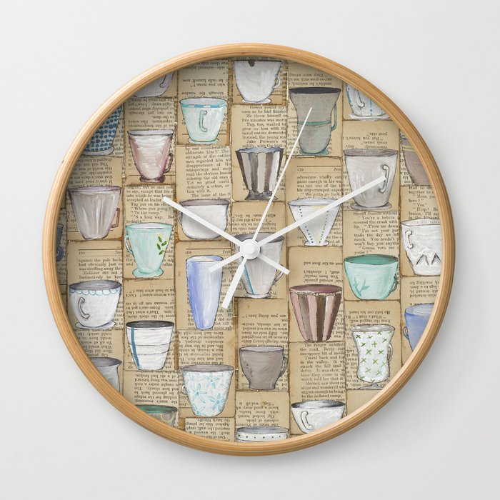 I Don't Drink Tea Wall Clock