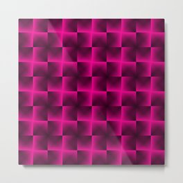 Rotated rhombuses of pink crosses with shiny intersections. Metal Print
