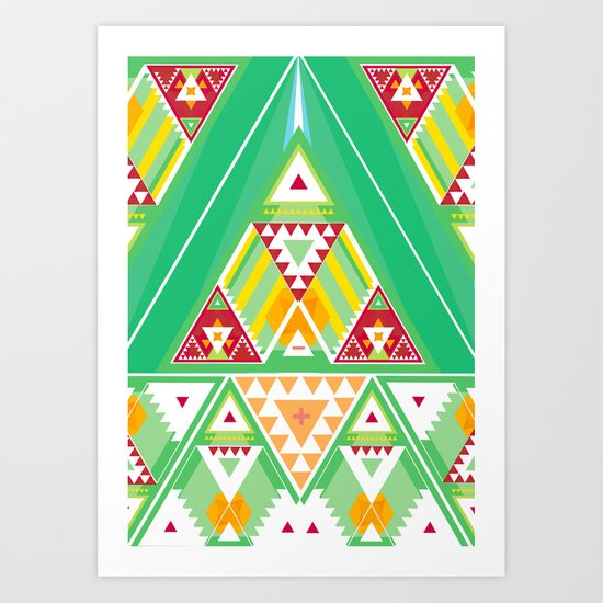 Triangle Indigenous Pattern Art Print