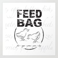 FEED BAG/Black & White Art Print