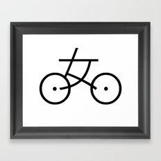 Kanji Bicycle Framed Art Print