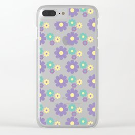Spring Flower Bloom Clear iPhone Case