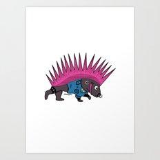 Punkupine Art Print