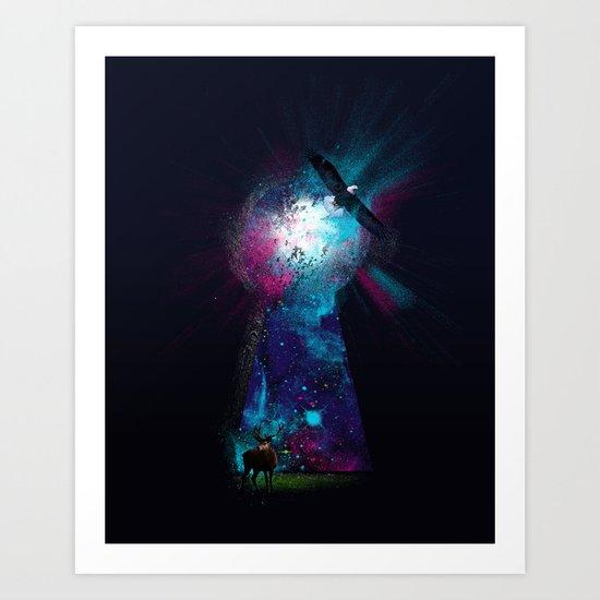 Keyhole Nebula Art Print