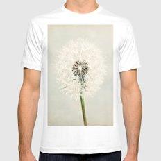 Dandelion Dreams  White Mens Fitted Tee MEDIUM