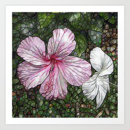 Fabulous hibiscus Art Print