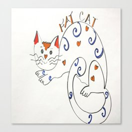 Fat Cat Canvas Print
