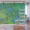 Blue and Green Flower Pattern by zeichenbloq