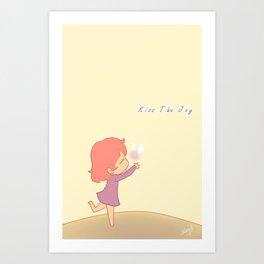 Kiss The Joy Art Print