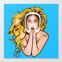artpop Canvas Prints featuring ARTPOP by Alli Vanes