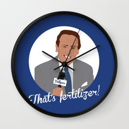 Vin Scully Wall Clock