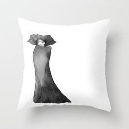Count Dracula with Cape Throw Pillow