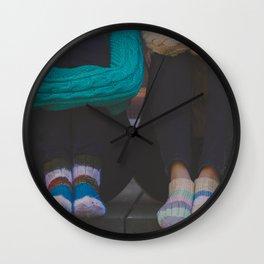 wool socks. Wall Clock