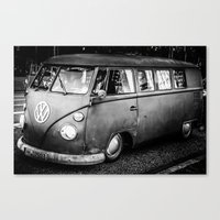 volkswagen Canvas Prints featuring Volkswagen by Seza Kaymak