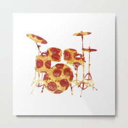 Pizza Beat Metal Print